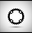bicycle chainring bicycle accessories icon vector image vector image