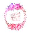 blosoom flower wreath vector image vector image