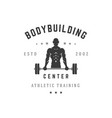 bodybuilding training center silhouette vector image