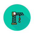 building crane icon on round background vector image