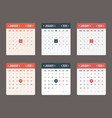 calendar template for application starts monday vector image vector image
