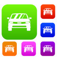 car set collection vector image vector image
