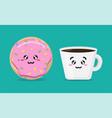 cartoon breakfast morning background vector image
