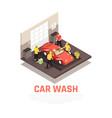 carwash concept vector image vector image