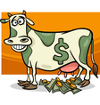 cash cow saying cartoon vector image vector image