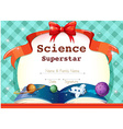 Certificate template with science theme vector image vector image