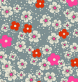 Cherry blossom seamless background vector image vector image