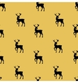 Christmas pattern with golden deers vector image vector image