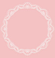 circular frame with paper lace lacy white and vector image vector image
