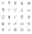 College line icons with reflect on white vector image vector image