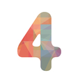Colorful number four vector image