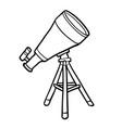 coloring book telescope vector image vector image