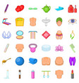 cosmetic for make up icons set cartoon style vector image vector image