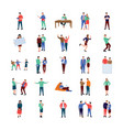 coworking people flat icons pack vector image vector image