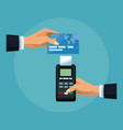 dataphone payment concept vector image