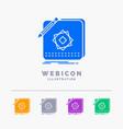 design app logo application design 5 color glyph vector image vector image