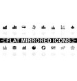 diagram graphs - flat icons vector image vector image