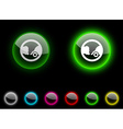 Ecology button vector image