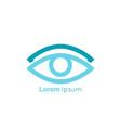 eye symbol on white background vector image vector image