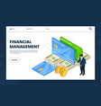 financial management online banking credit vector image vector image