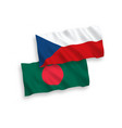 flags czech republic and bangladesh on a white vector image vector image