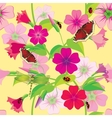 Flower background with butterflies and dragonflies vector image vector image