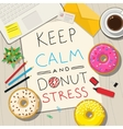 Funny phrases about stress vector image