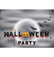 Halloween night party background vector image