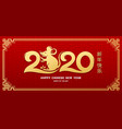 happy chinese new year 2020 rat vector image vector image