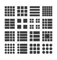 Icons menu list vector image vector image
