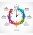 infographics design template stopwatch with a vector image vector image