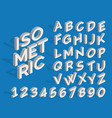 isometric alphabet and numbers funky 3d vector image vector image