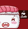 japanese food cute kawaii vector image