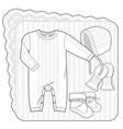 knitted collection for a newborn baby white vector image