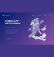 landing page for mobile app development vector image