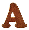 Leather textured letter A vector image vector image