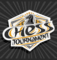 logo for chess tournament vector image