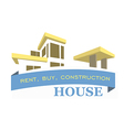 Logo of the villa Rental sales and construction of vector image vector image