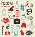 MEDICAL elements resize vector image vector image