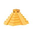 mexcian pyramid vector image vector image