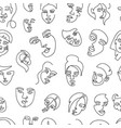 modern abstract faces seamless pattern vector image vector image