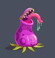 monster predator plant vector image vector image