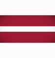 National flag of Latvia vector image vector image