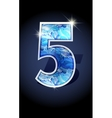 number blue shine design vector image vector image