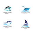 ocean boat cruise liner ship silhouette simple vector image vector image