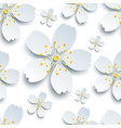 oriental seamless pattern with white sakura flower vector image vector image