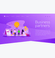 partnership landing page template vector image vector image