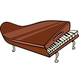 piano clip art cartoon vector image vector image
