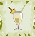 pina colada cocktail alcoholic bar drink hand vector image vector image