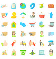 postal parcel icons set cartoon style vector image vector image